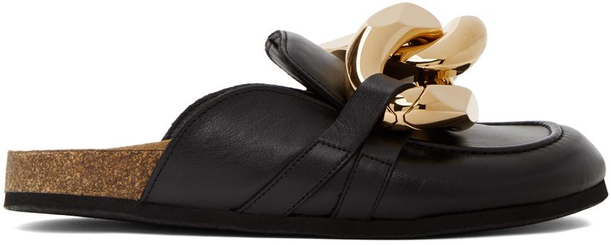 JW Anderson 黑色马衔索穆勒鞋