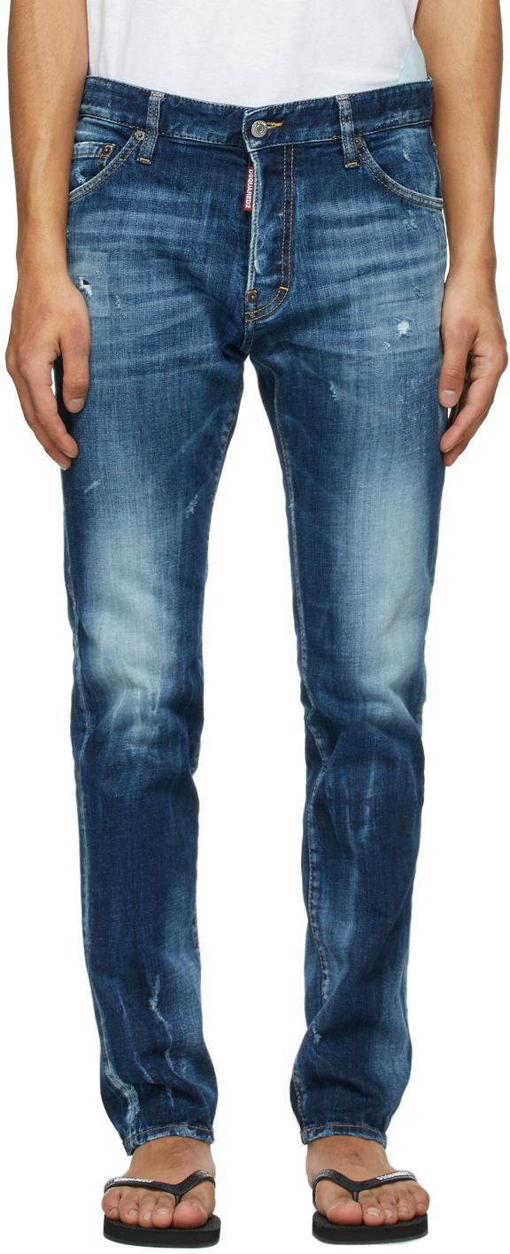 Dsquared2 蓝色 Cool Guy 牛仔裤