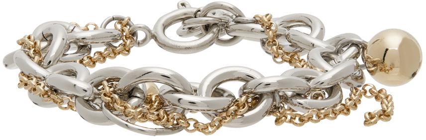 Justine Clenquet 金色 & 银色 Lewis 手链