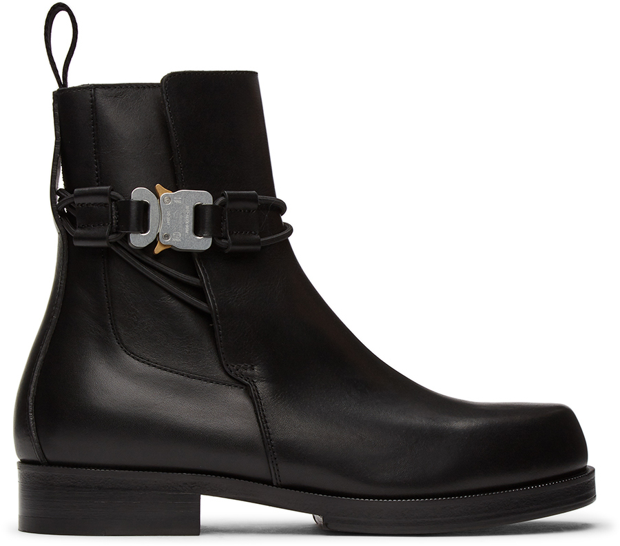 1017 ALYX 9SM 黑色插扣切尔西靴