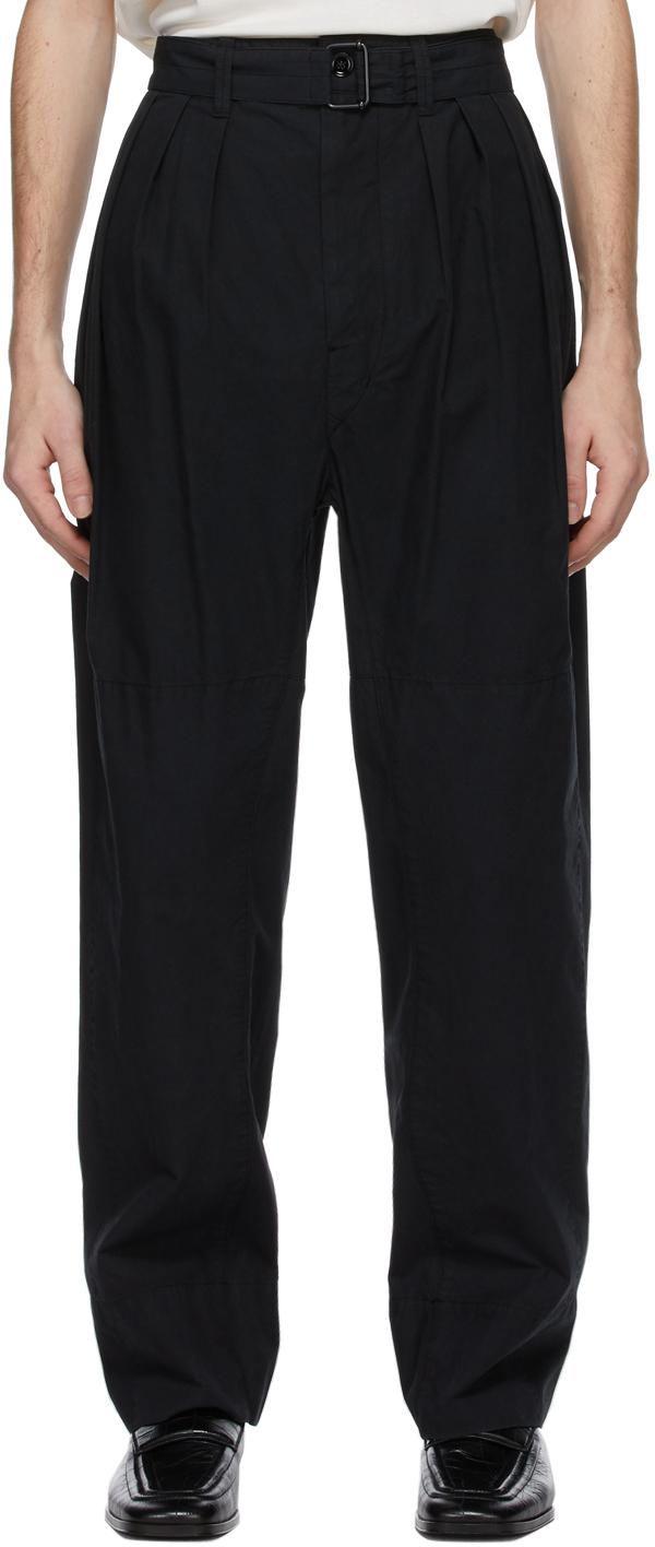 Lemaire 黑色 4 Pleats 长裤