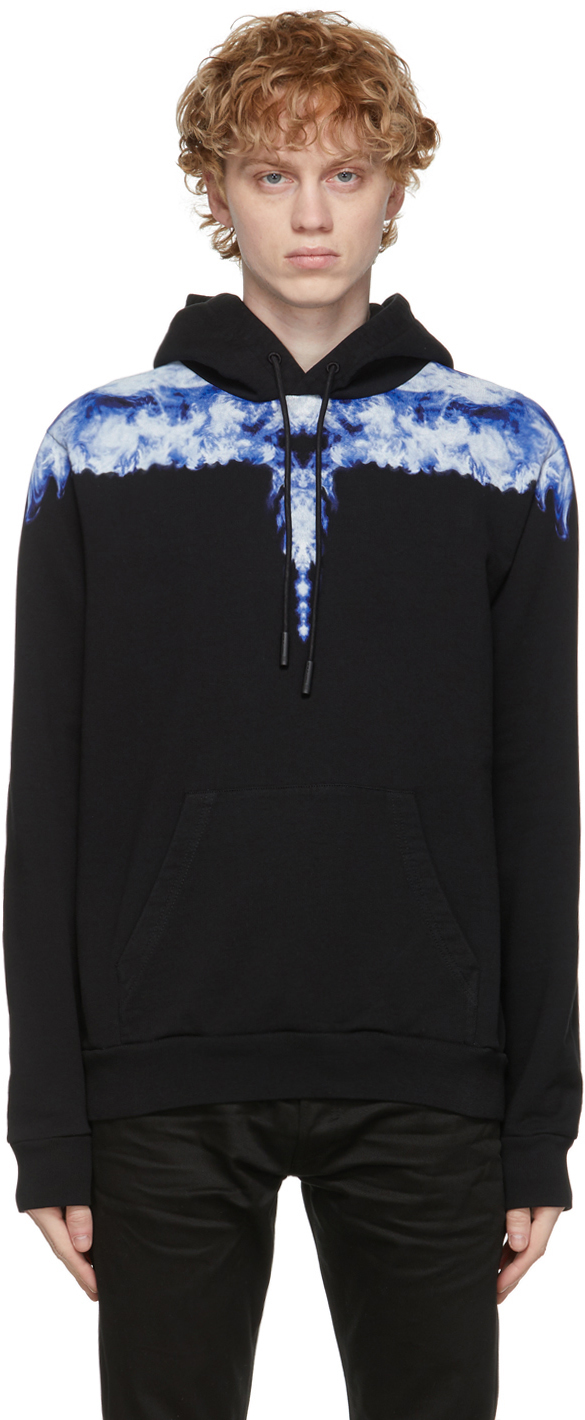 Marcelo Burlon County of Milan 黑色 Wings 连帽衫