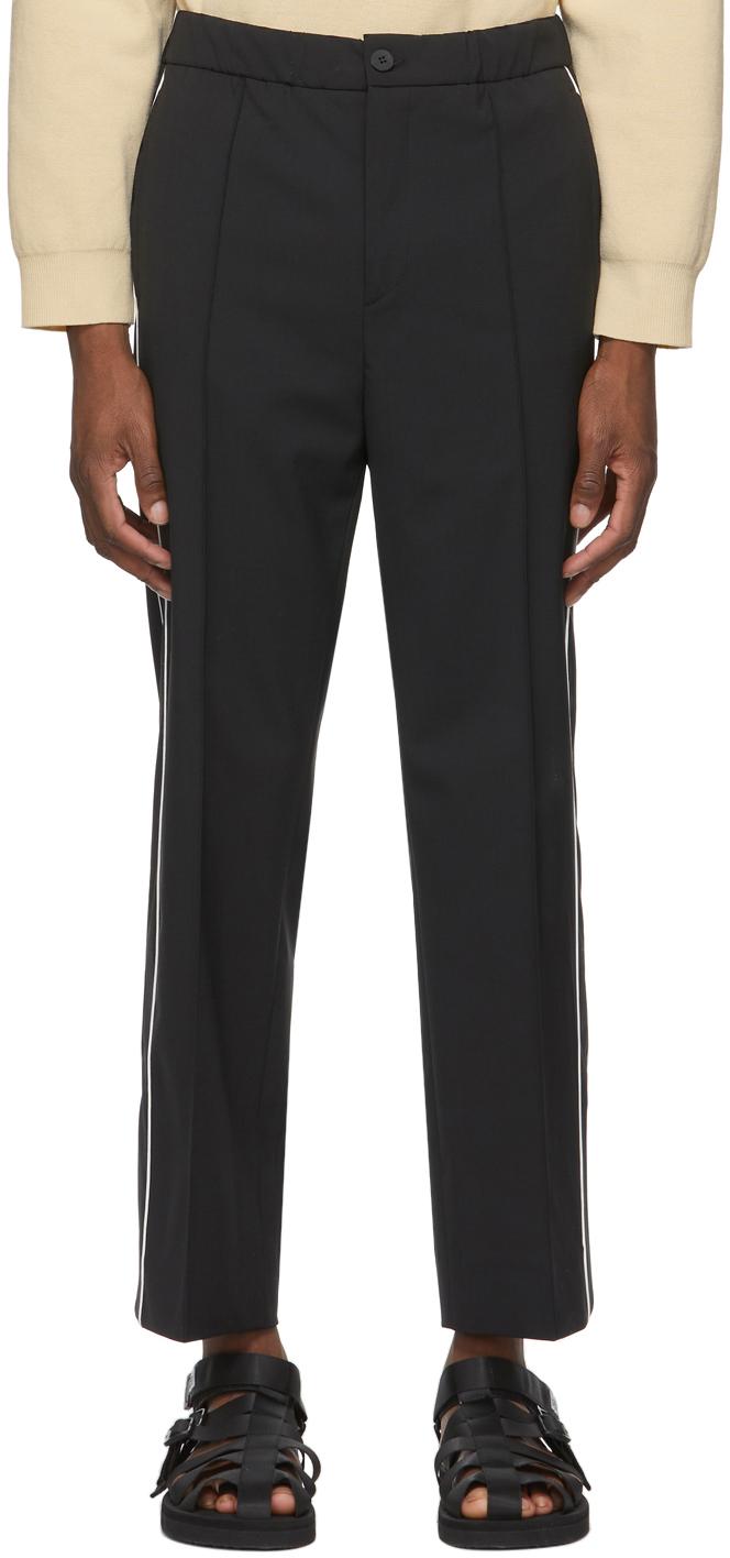 Solid Homme 黑色抽绳运动裤