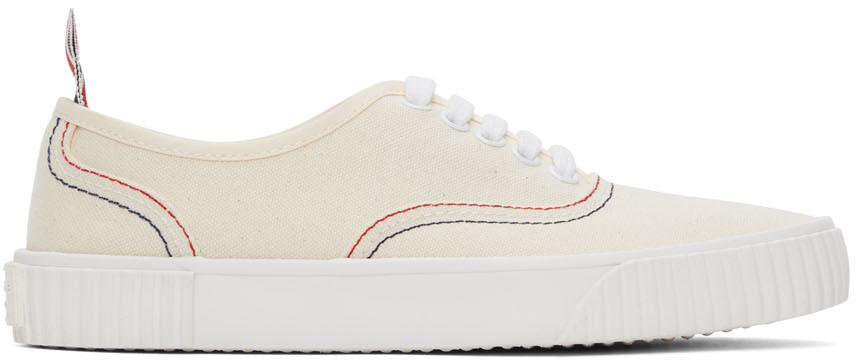 Thom Browne 灰白色 Heritage 硫化运动鞋