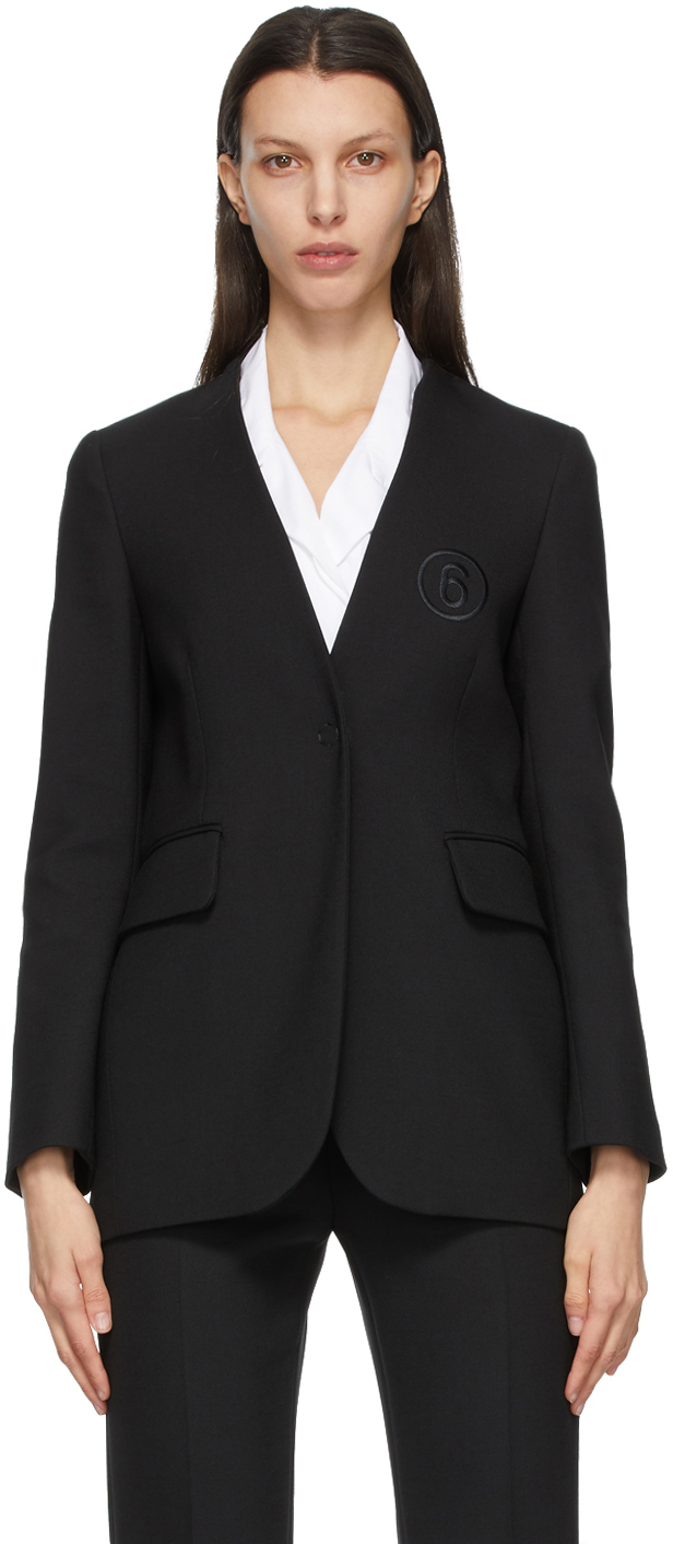 "MM6 Maison Margiela 黑色""6""西装外套"