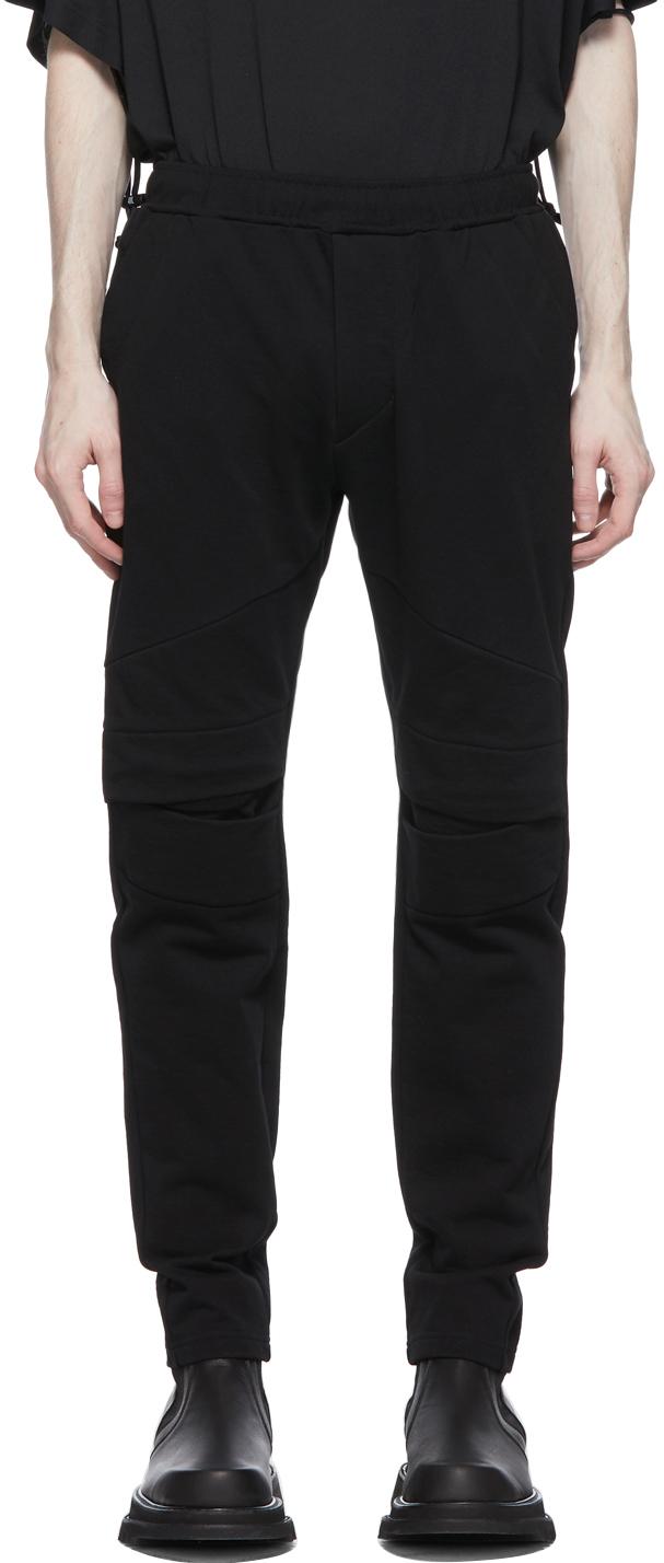 Julius 黑色 Dry Sweat Detail 运动裤