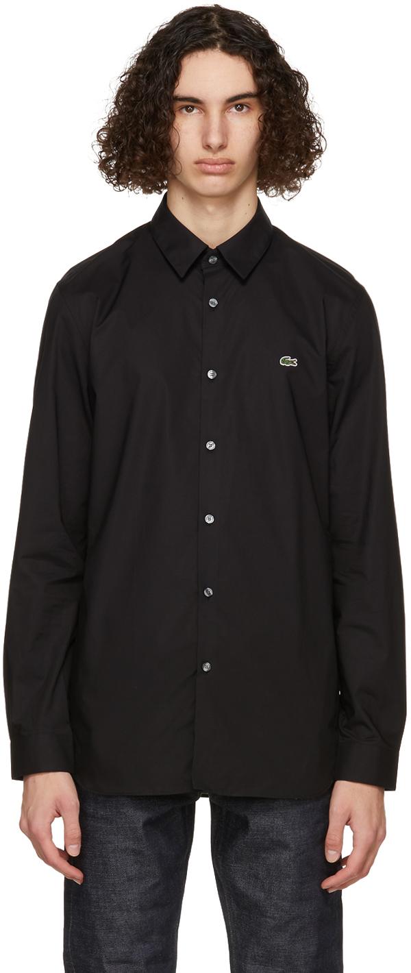 Lacoste 黑色 Slim-Fit 弹性衬衫