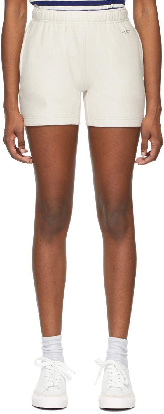 Rag & Bone 灰白色 City 有机棉运动短裤