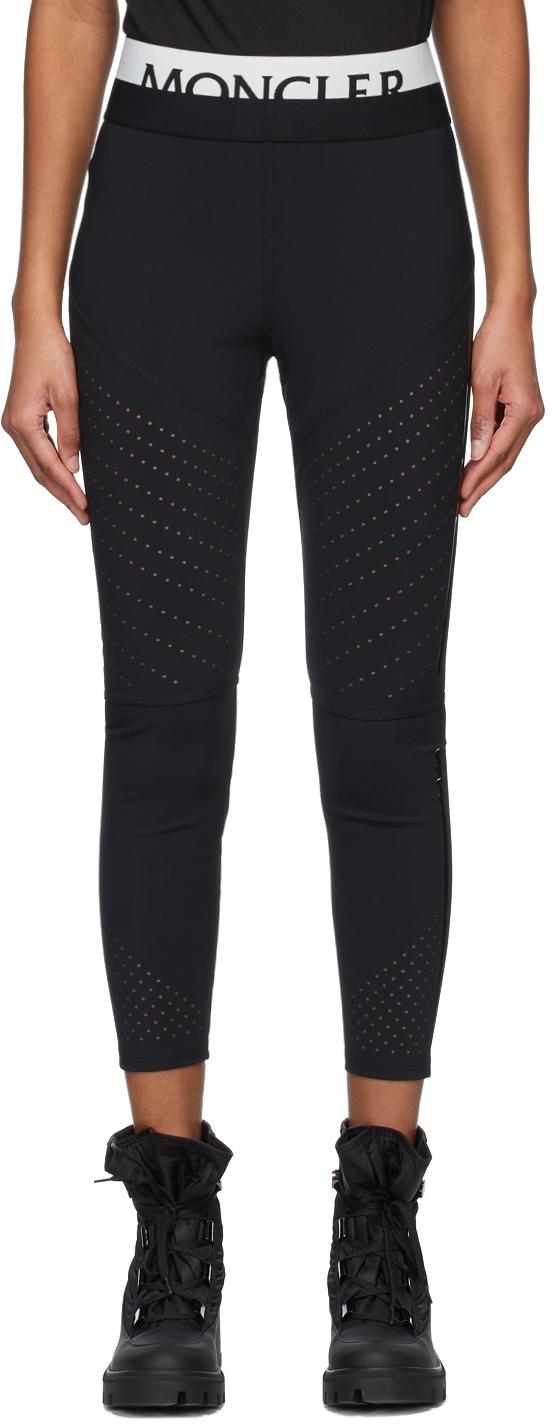 Moncler 黑色徽标打底裤