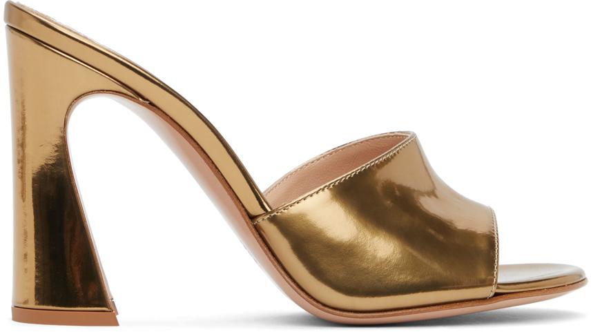 Gianvito Rossi 金色 Curved 凉鞋