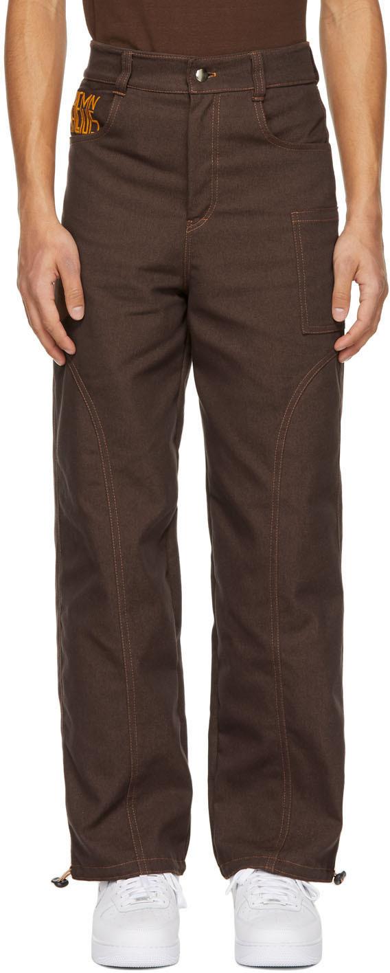 Phlemuns 棕色 Two-Panel 工装裤