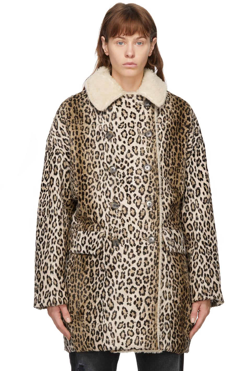 R13 黄褐色 Hunting 豹纹大衣