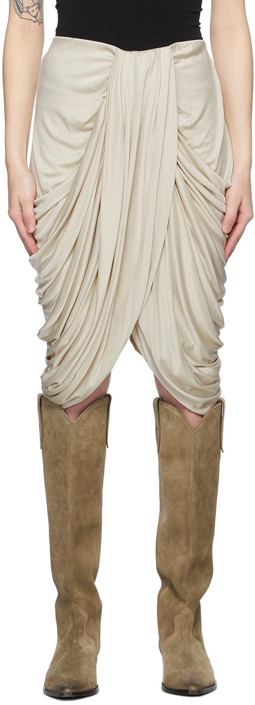 Isabel Marant 灰白色 Dotina 褶裥半身裙