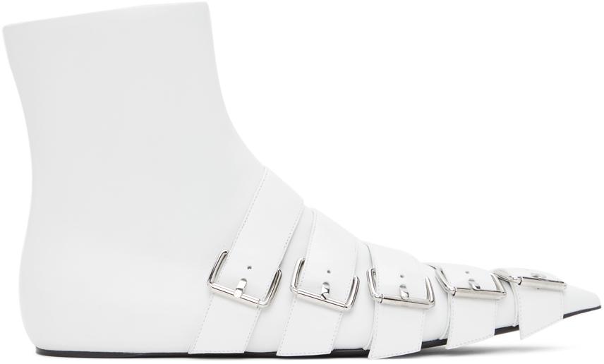Balenciaga 白色 Buckle Knife 踝靴