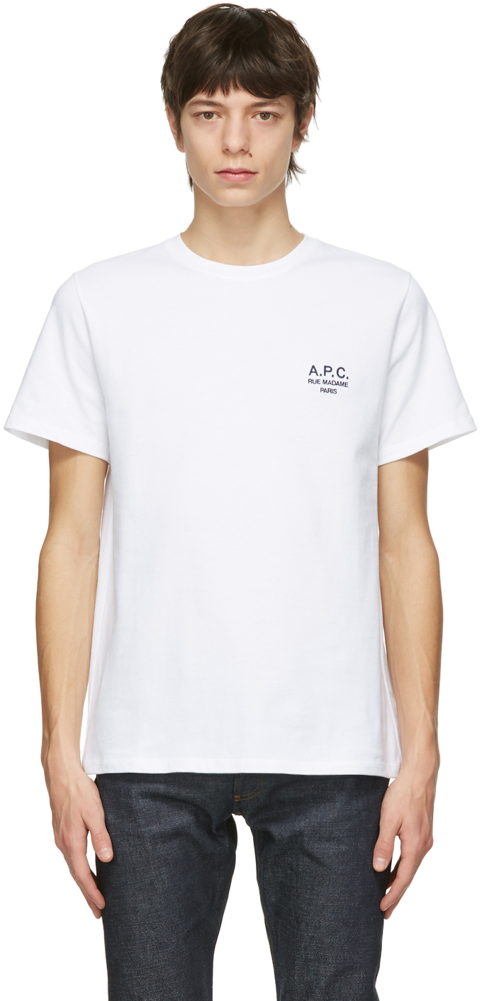 A.P.C. 白色 Raymond T 恤