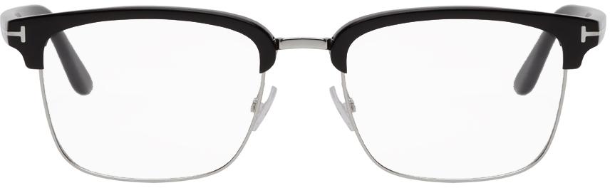 TOM FORD 黑色半框眼镜
