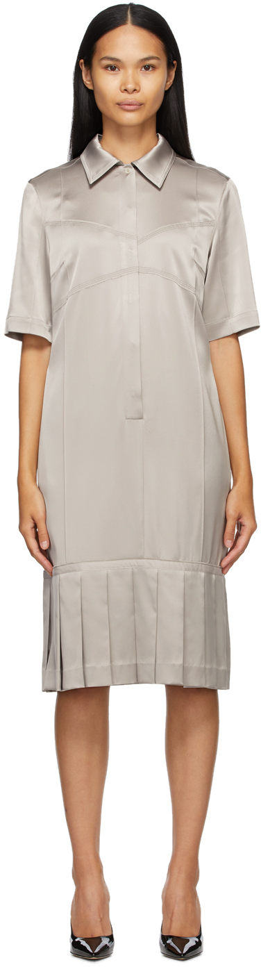 Commission SSENSE 独家发售灰褐色 Bralette 衬衫连衣裙