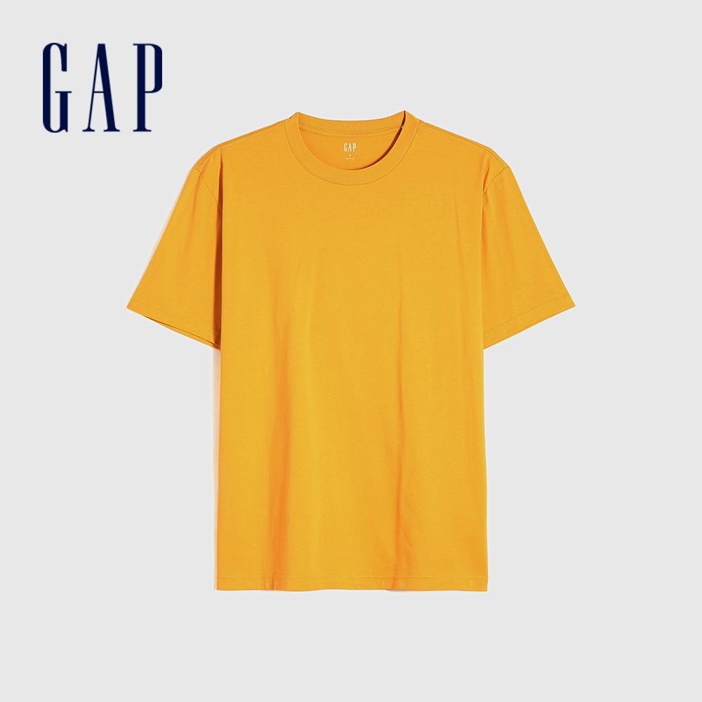 Gap 男裝 純棉舒適圓領短袖T恤 706800-玉米黃