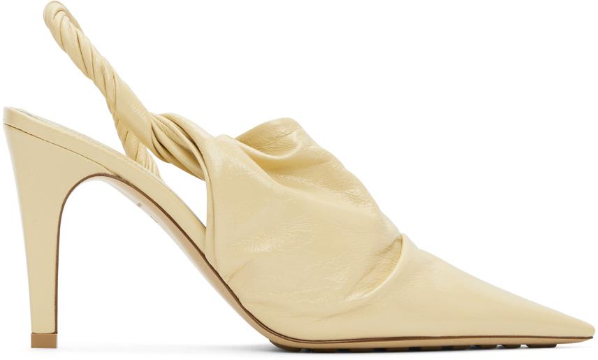 Bottega Veneta 米色 The Point 高跟穆勒鞋