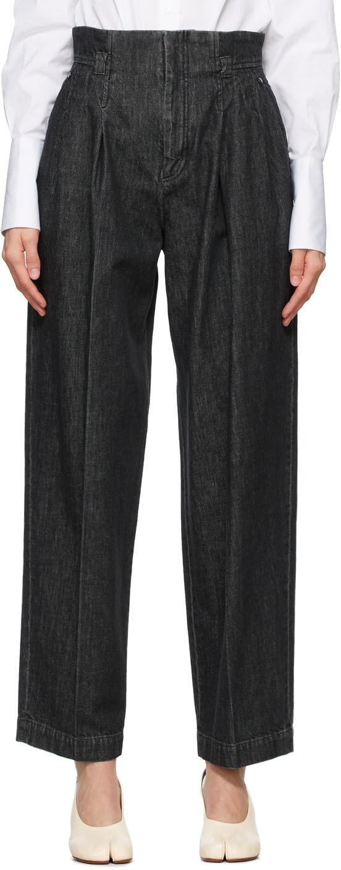 Mame Kurogouchi 黑色高腰牛仔裤