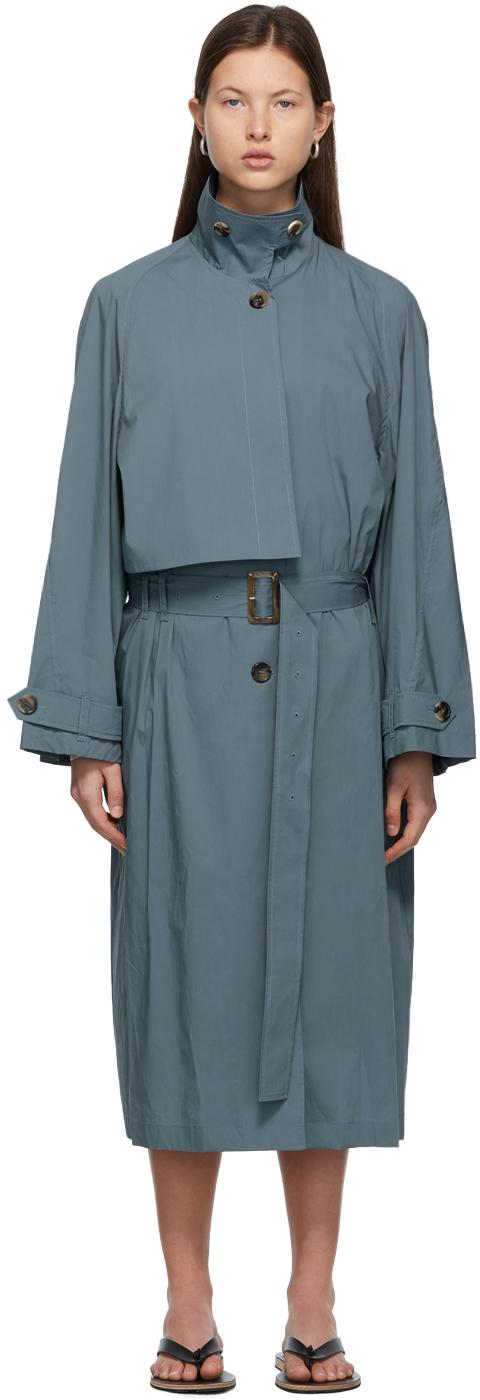 LOW CLASSIC 蓝色束带风衣