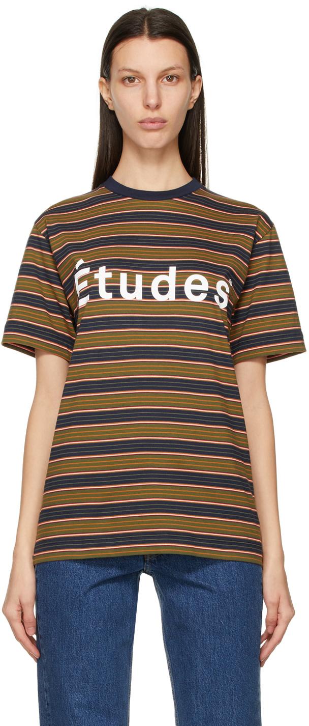 """Études 多色 Wonder """"Etudes""""条纹 T 恤"""