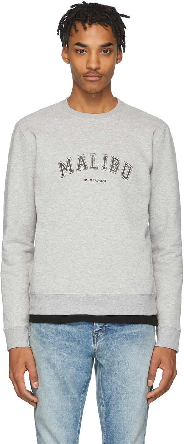 """Saint Laurent 灰色""""Malibu""""套头衫"""