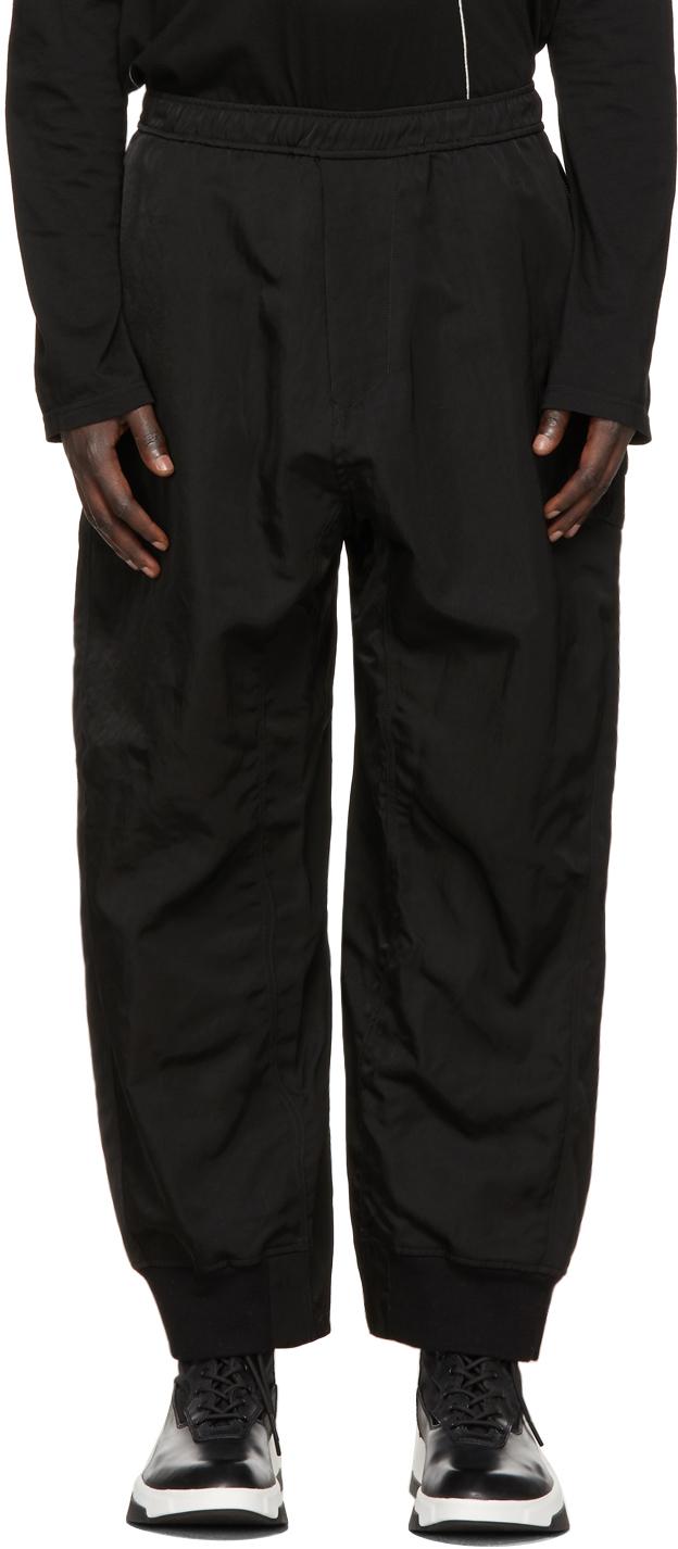 Julius 黑色 Baggy 运动裤