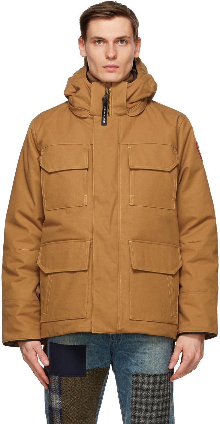 Junya Watanabe 黄褐色 Canada Goose 联名羽绒派克大衣