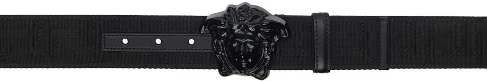 Versace 黑色 Greca Medusa 腰带