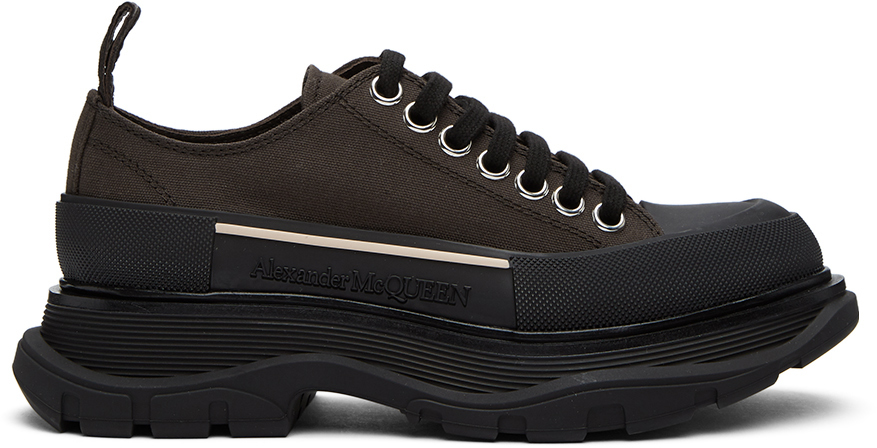 Alexander McQueen 棕色 Tread Slick 运动鞋
