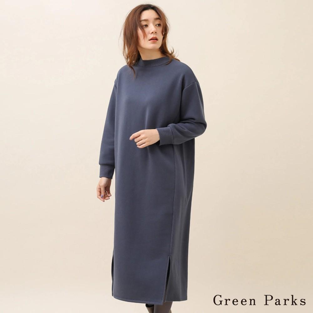 Green Parks 休閒感素面側開衩連身洋裝(6P97L1H0800)