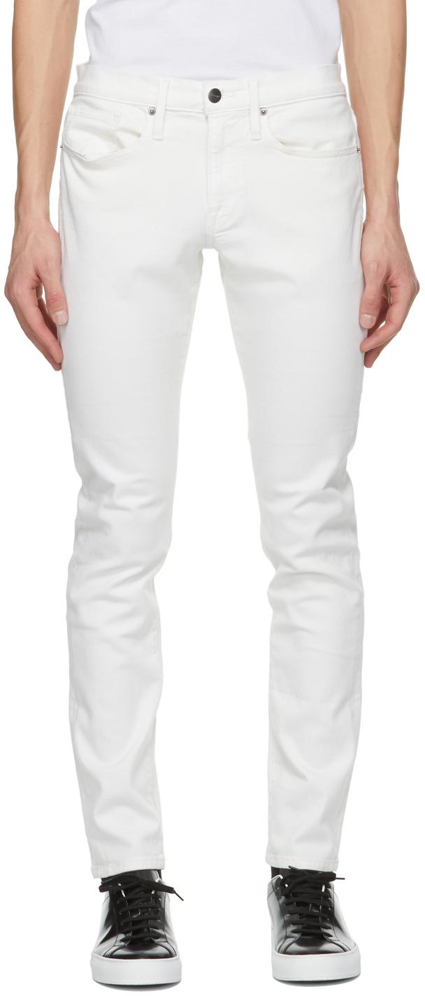 FRAME 白色 L'Homme Slim 牛仔裤