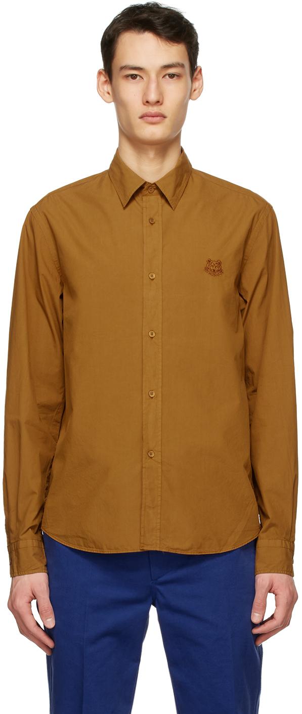 Kenzo 黄褐色 Tiger Crest 衬衫