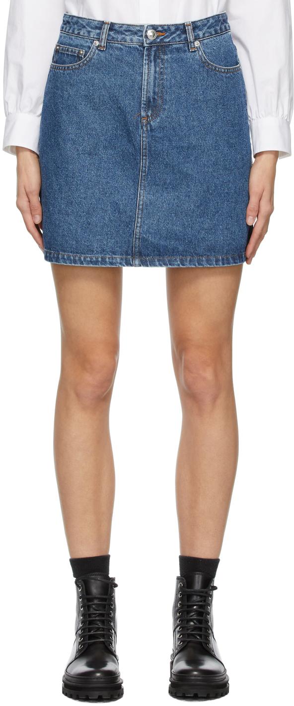 A.P.C. 蓝色 Standard 牛仔短裙