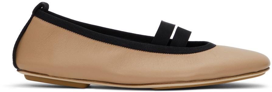 Burberry 黄褐色 Grace 芭蕾鞋