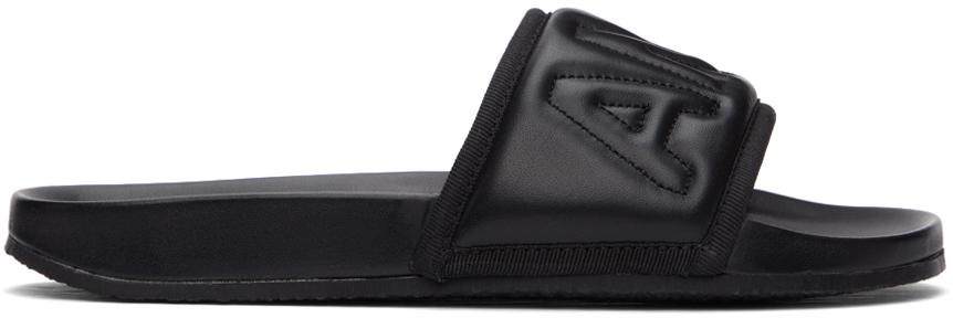 Ambush 黑色绗缝拖鞋