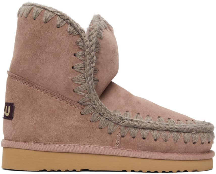 Mou 粉色 18 踝靴