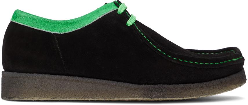 Padmore & Barnes SSENSE 独家发售黑色 Original P204 绒面革莫卡辛鞋