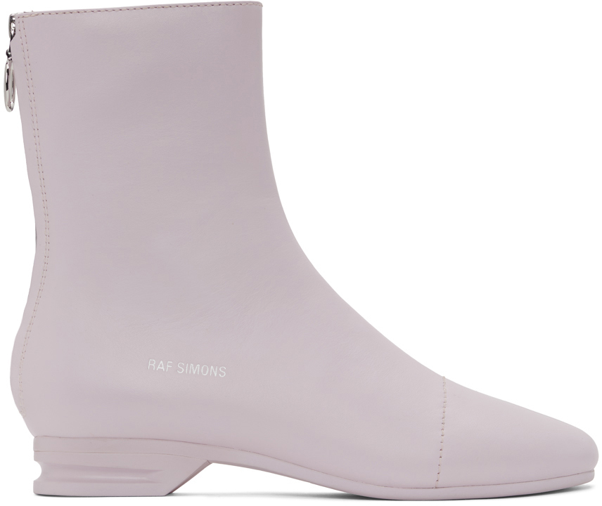 Raf Simons 粉色 2001-2 拉链踝靴