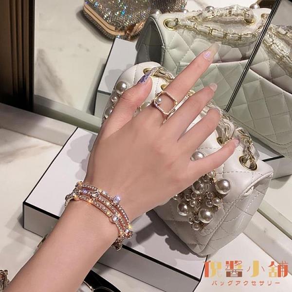 水晶閃韓版時尚多層手鏈韓版氣質手圈手鐲【倪醬小鋪】