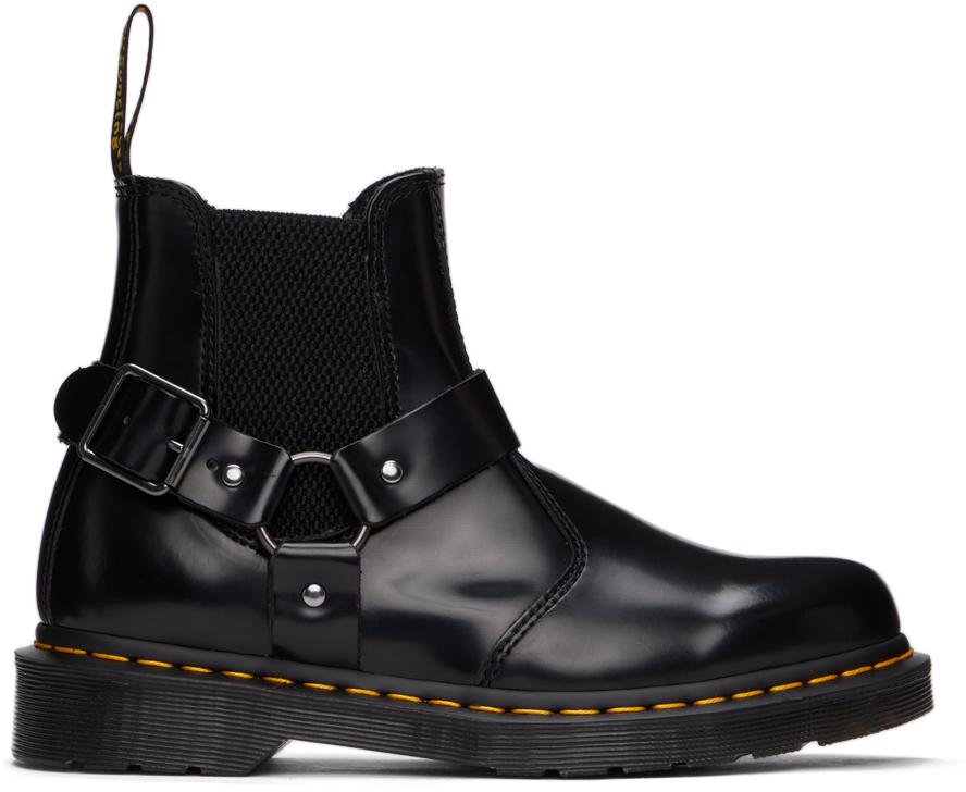 Dr. Martens 黑色 Wincox 插扣切尔西靴
