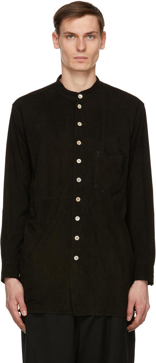 BED J.W. FORD 黑色绒面革衬衫夹克
