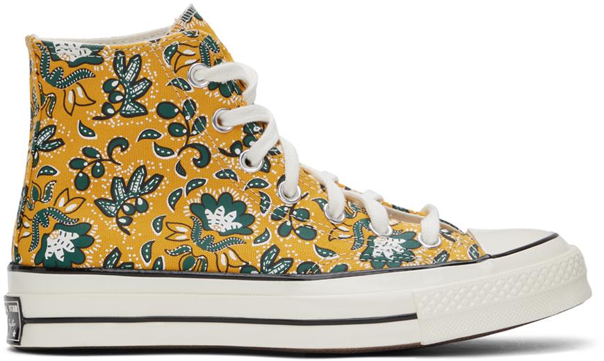 Converse 黄色 Culture Prints Chuck 70 高帮运动鞋