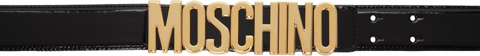Moschino 黑色 Classic 徽标腰带