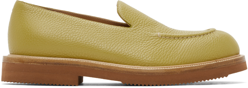 Dries Van Noten 绿色荔枝纹乐福鞋