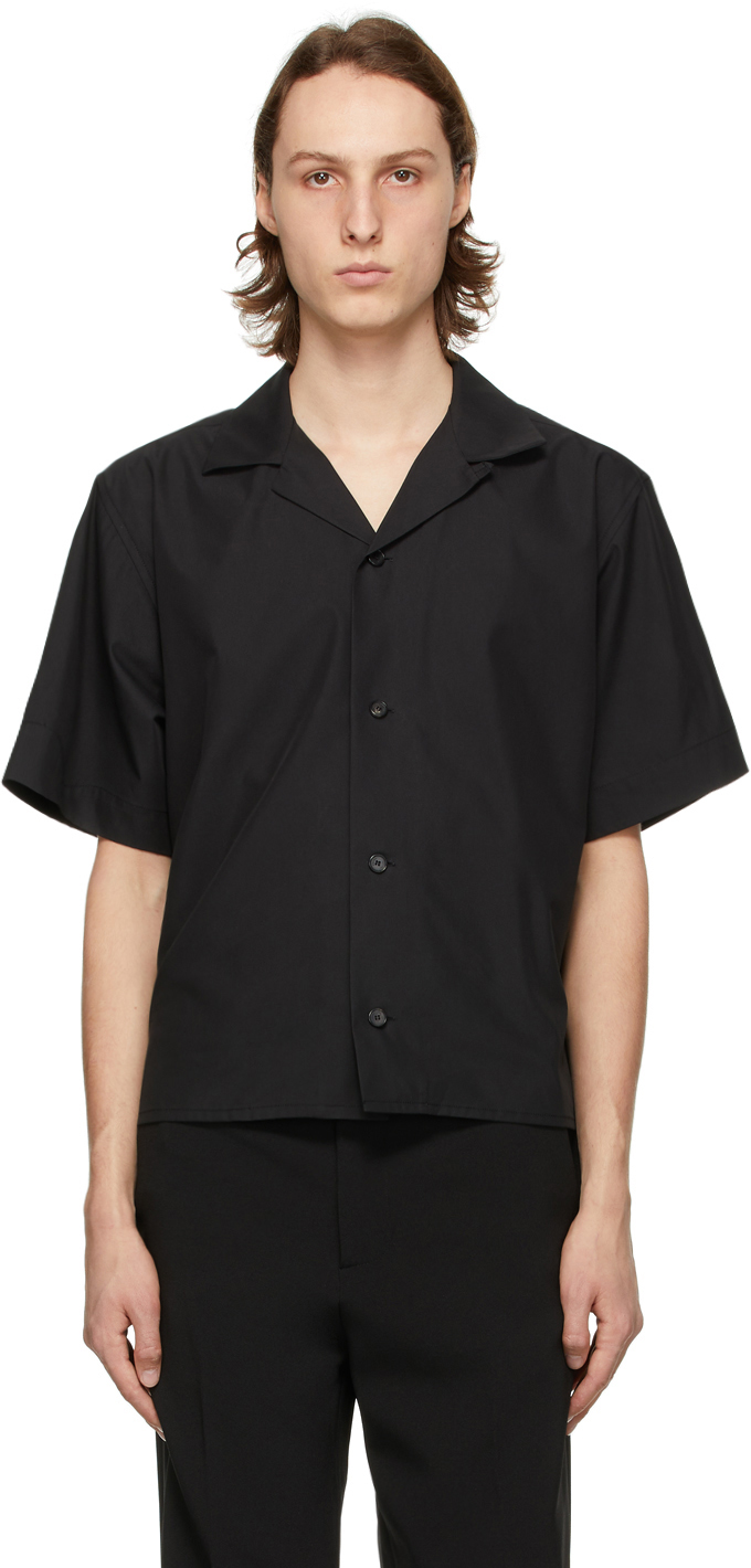 Recto 黑色短袖衬衫