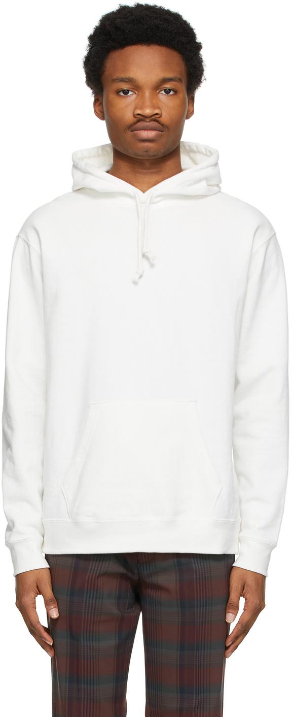 BEAMS PLUS 灰白色 Pigment-Dye 连帽衫