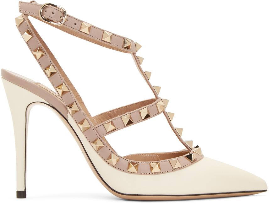 Valentino Garavani 灰白色 Valentino Garavani 系列 Rockstud 高跟鞋