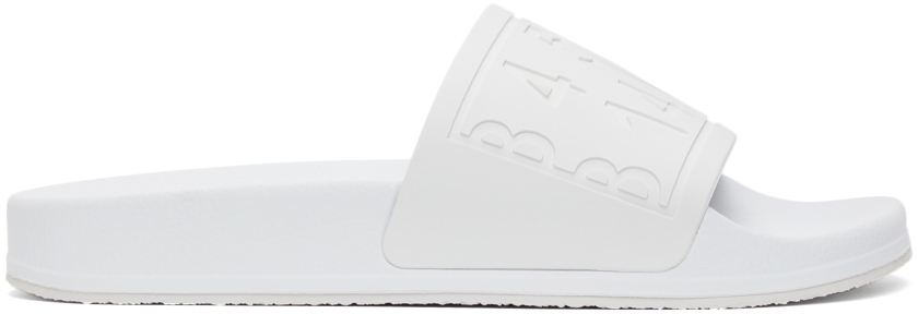 MM6 Maison Margiela 白色徽标拖鞋
